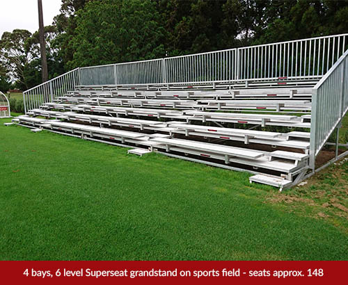 outdoor grandstand hire sports field