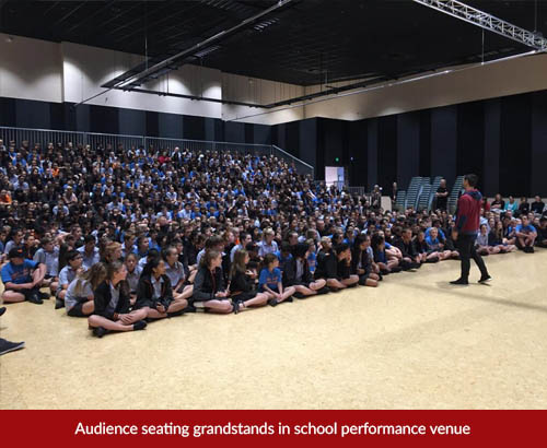 audience seating grandstand hire school