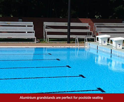 spectator seating grandstand hire pool