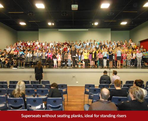standing choir riser grandstand hire