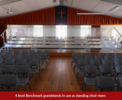 church choir riser grandstand hire