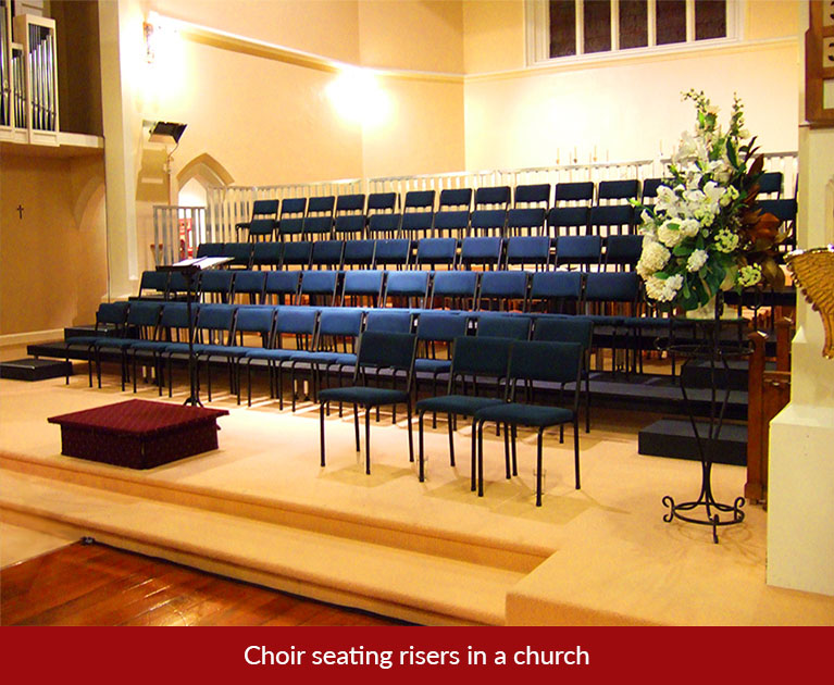 church seating risers