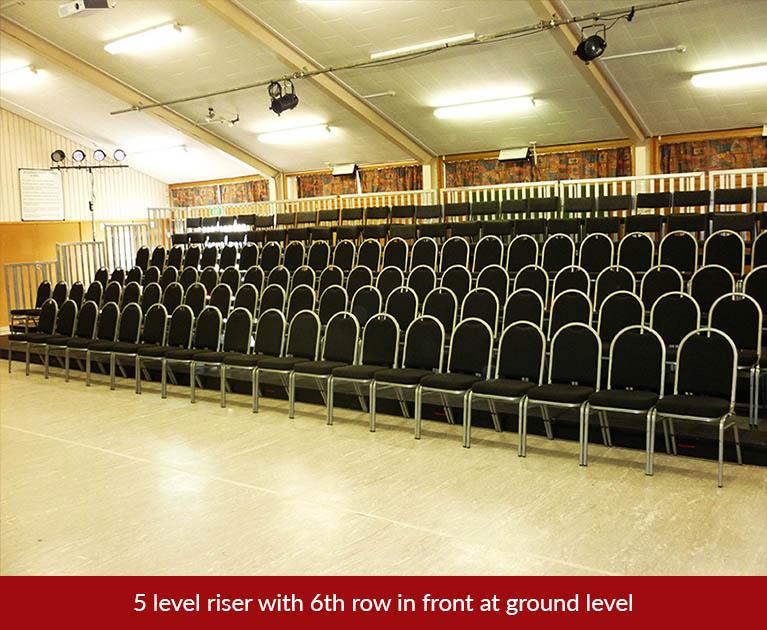 5+1 seating riser